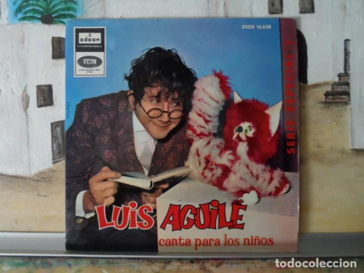 ** LUIS AGUILE - CANTA PARA LOS NIÑOS - EL BRUJITO DE GULUGU + 3 - EP 1964 - LEER DESCRIPCIÓN (Música - Discos de Vinilo - EPs - Cantautores Españoles)