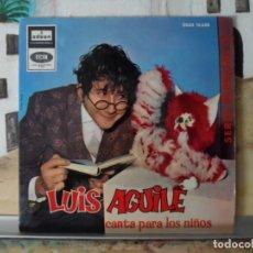 Discos de vinilo: ** LUIS AGUILE - CANTA PARA LOS NIÑOS - EL BRUJITO DE GULUGU + 3 - EP 1964 - LEER DESCRIPCIÓN. Lote 132455470
