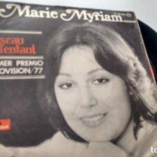 Discos de vinilo: SINGLE (VINILO) DE MARIE MYRIAM AÑOS 70-EUROVISION-. Lote 132457350