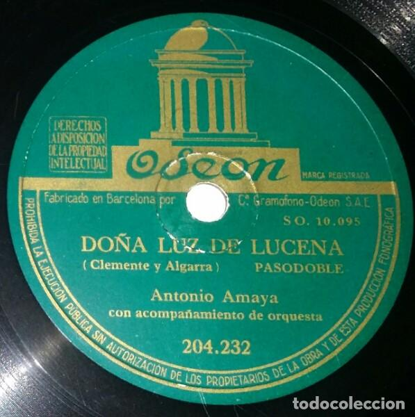 DISCOS 78 RPM - ANTONIO AMAYA - ORQUESTA - PASODOBLE - BULERÍAS - CANTARES DE JOSELÉ - PIZARRA (Música - Discos - Singles Vinilo - Clásica, Ópera, Zarzuela y Marchas)