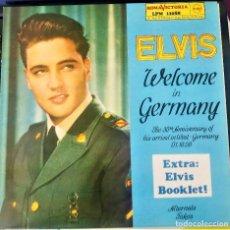 Discos de vinilo: ELVIS PRESLEY || WELCOME IN GERMANY || ROMA VICTORIA. Lote 132472790