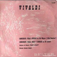 Discos de vinilo: SOLISTI DI ZAGREB - VIVALDI - CONCIERTO PARA CUERDA EN SOL MAYOR - ALLA RUSTICA . SINGLE . 1961 BEL. Lote 132481022