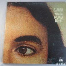 Disques de vinyle: LP MARÍA DEL MAR BONET. ALENAR. Lote 132487882