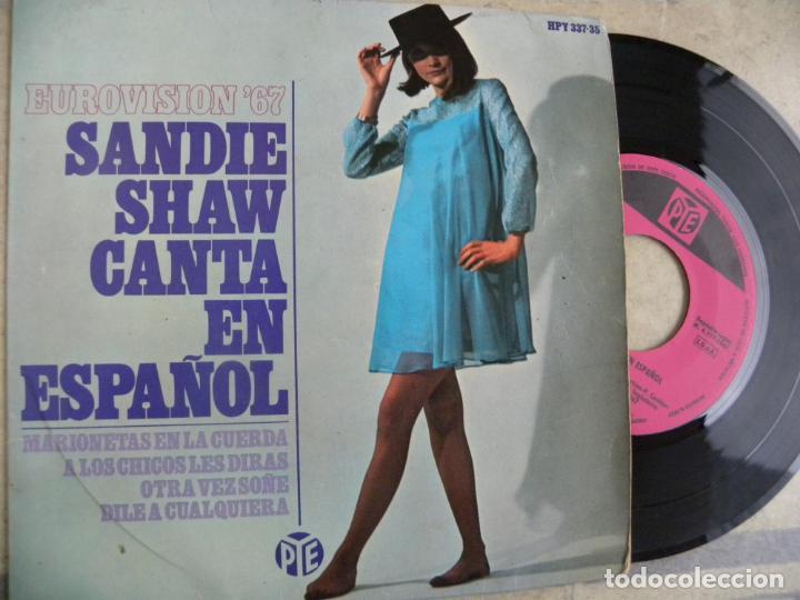 SANDIE SHAW CANTA EN ESPAÑOL MARIONETAS EN LA CUERDA -SINGLE 1967 -PEDIDO MINIMO 3 EUROS (Música - Discos de Vinilo - EPs - Pop - Rock Internacional de los 50 y 60)