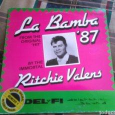 Discos de vinilo: RITCHIE VALENS MAXI LA BAMBA 1987. Lote 132489625