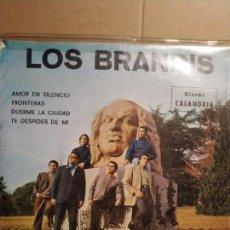 Discos de vinilo: LOS BRANDIS EP PROMOCIONAL AMOR EN SILENCIO + 3TEMAS. Lote 132506066