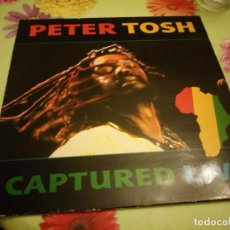Discos de vinilo: PETER TOSH. CAPTURED LIVE.PRODUCIDO POR MICHAEL C. COLLINS. EMI ODEON. 1984. Lote 132508726