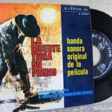 Discos de vinilo: LA MUERTE TENIA UN PRECIO -ENNIO MORRICONE -EP 1958 -PEDIDO MINIMO 3 EUROS. Lote 132511910