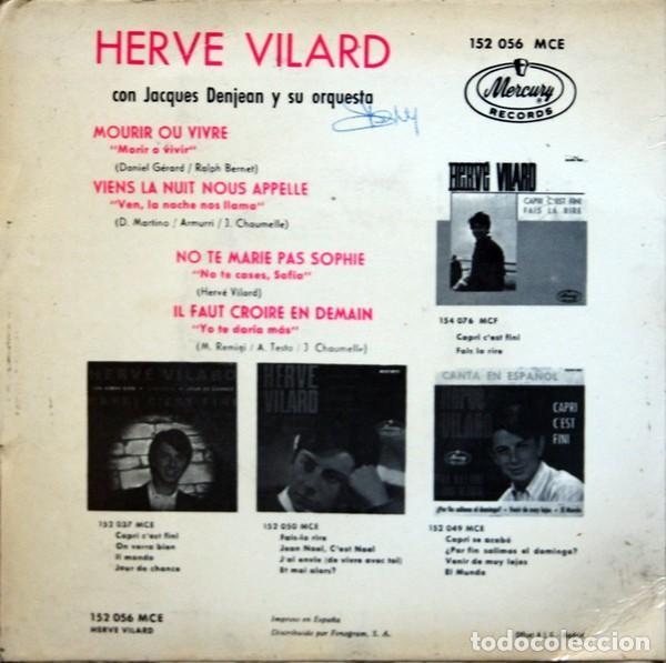 Discos de vinilo: Hervé Vilard ?– Mourir Ou Vivre (España, 1966) - Foto 2 - 132528474