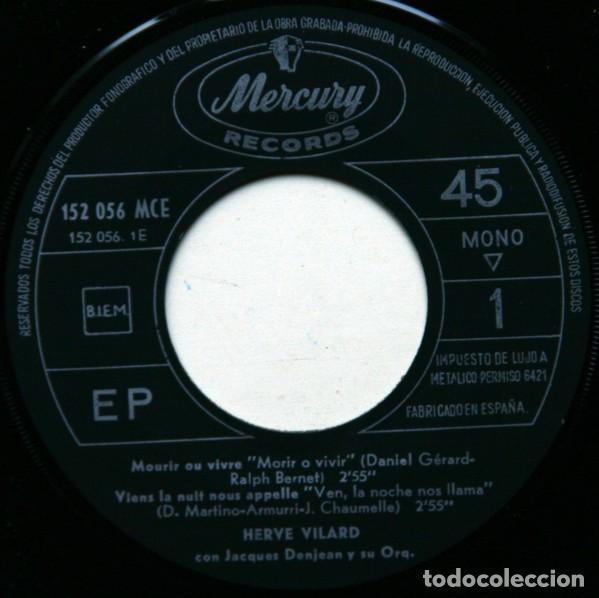 Discos de vinilo: Hervé Vilard ?– Mourir Ou Vivre (España, 1966) - Foto 3 - 132528474
