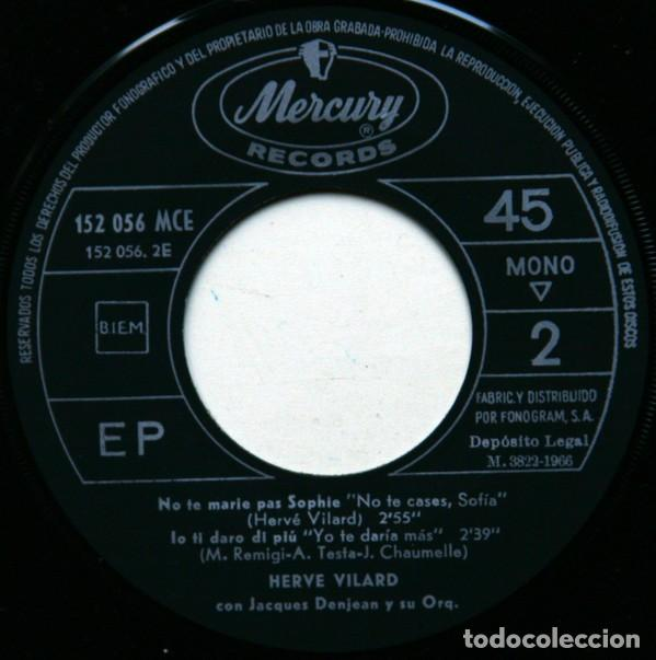 Discos de vinilo: Hervé Vilard ?– Mourir Ou Vivre (España, 1966) - Foto 4 - 132528474