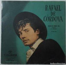 Discos de vinilo: SINGLE - RAFAEL DE CORDOVA - RINCON DE PUERTO REAL / TIENTOS - COLUMBIA SCGE 80060. Lote 132528510