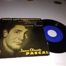 Discos de vinilo: JEAN CLAUDE PASCAL / NOUS LES AMOUREUX ( EUROVISION ) EP 45 RPM / LA VOZ DE SU AMO 1961. Lote 132545798