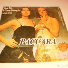 Discos de vinilo: SINGLE BACCARA. YES SIR, I CAN BOOGIE. CARA MÍA. RCA 1977 SPAIN (DISCO PROBADO Y BIEN). Lote 132565390