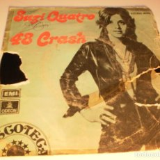 Discos de vinilo: SINGLE SUZI QUATRO. 48 CRASH. LITTLE BITCH BLUE. EMI 1973 SPAIN (DISCO PROBADO Y BIEN). Lote 132565678