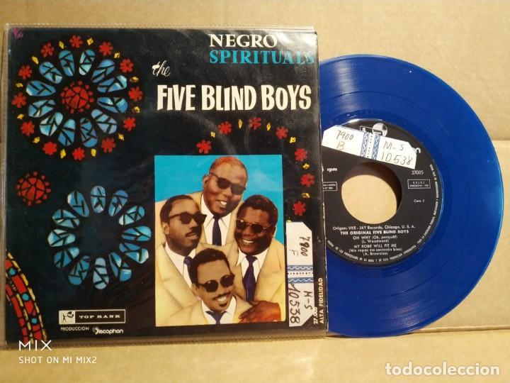 THE FIVE BLIND BOYS NEGRO SPIRITUALS PICTURE AZUL (Música - Discos de Vinilo - EPs - Jazz, Jazz-Rock, Blues y R&B)