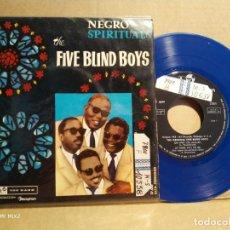 Discos de vinilo: THE FIVE BLIND BOYS NEGRO SPIRITUALS PICTURE AZUL. Lote 132583902