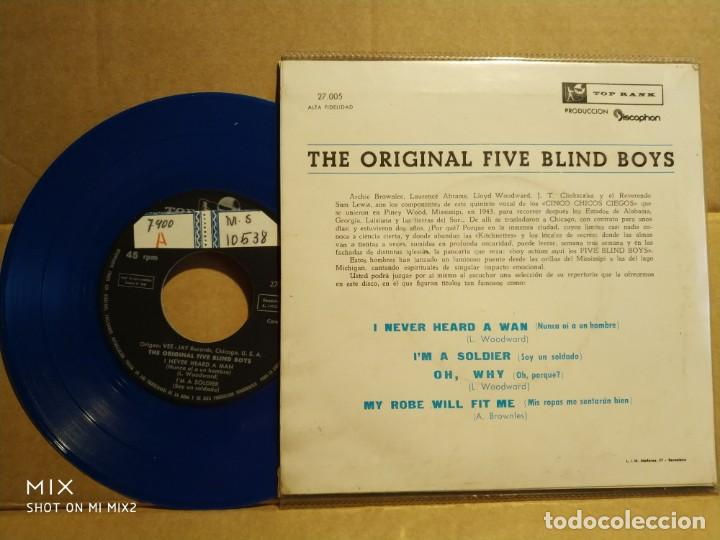 Discos de vinilo: THE FIVE BLIND BOYS NEGRO SPIRITUALS Picture azul - Foto 2 - 132583902