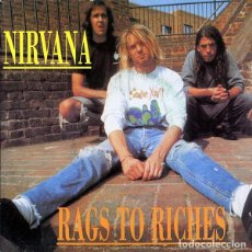 Discos de vinilo: NIRVANA: RAGS TO RICHES, IN BLOOM + DUMB + SMELLS LIKE TEEN SPIRIT + TERRITORIAL PISS. Lote 132586042