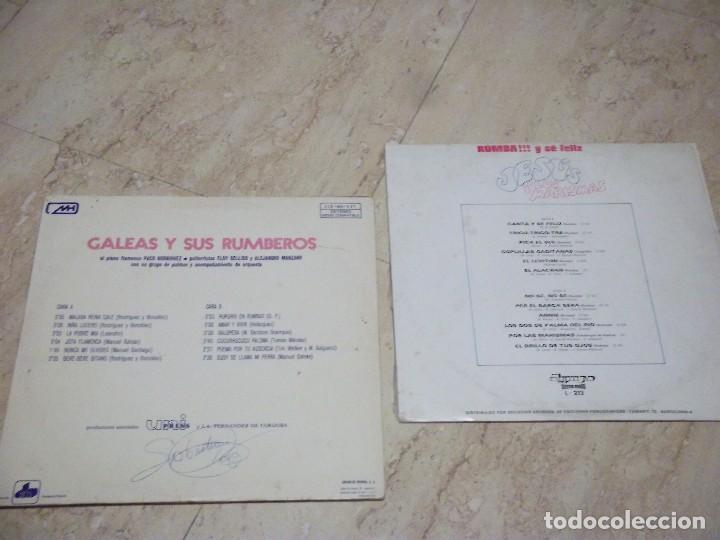 Discos de vinilo: LOTE DOS LP -GALEAS Y SUS RUMBEROS EN PLAYAMAR / JESUS Y LOS MARISMAS -RUMBA!! Y SE FELIZ - Foto 2 - 132592582
