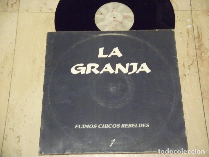Discos de vinilo: LOS FLECHAZOS LO CONSEGUÍ LA GRANJA FUIMOS CHICOS REBELDES MAXI SINGLE MOD POWER POP VINILO - Foto 2 - 132599842