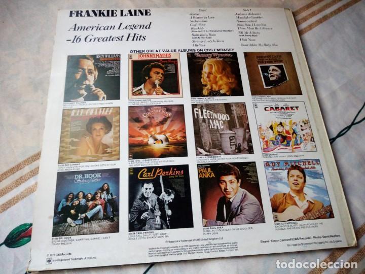 Discos de vinilo: Frankie Laine ?– American Legend -16 Greatest Hits.1977 - Foto 2 - 132606290