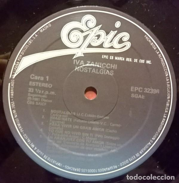 Discos de vinilo: Iva Zanicchi - Nostalgias (España, 1983) - Foto 3 - 132606994