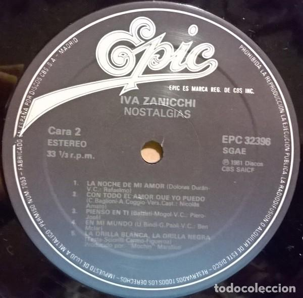 Discos de vinilo: Iva Zanicchi - Nostalgias (España, 1983) - Foto 4 - 132606994