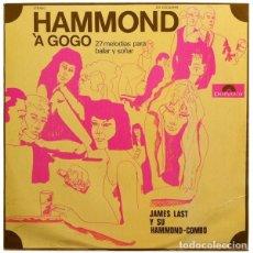 Discos de vinilo: JAMES LAST Y SU HAMMOND COMBO - HAMMOND À GOGO - 27 MELODIAS PARA BAILAR Y SOÑAR (ESPAÑA, 1968). Lote 132607798