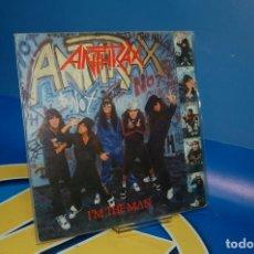 Discos de vinilo: DISCO VINILO EP - ANTHRAX – I'M THE MAN -AÑO 1987-DESCATALOGADO SPAIN. Lote 132617230
