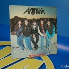 Discos de vinilo: DISCO VINILO EP - ANTHRAX – PENIKUFESIN -AÑO 1989-DESCATALOGADO SPAIN. Lote 132617286