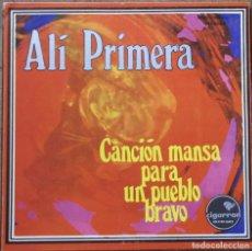 Discos de vinilo: ALI PRIMERA. CANCIÓN MANSA PARA UN PUEBLO BRAVO. CIGARRON, LP 0003. GATEFOLD. VENEZUELA. EX, EX.. Lote 181693721