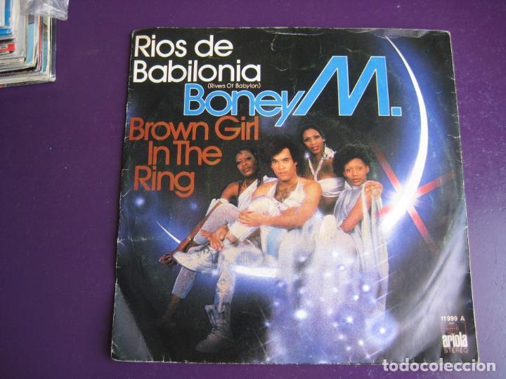 BONEY M SG ARIOLA 1978 RIOS DE BABILONIA/ BROWN GIRL IN THE RING FUNK DISCO SOUL (Música - Discos - Singles Vinilo - Funk, Soul y Black Music)