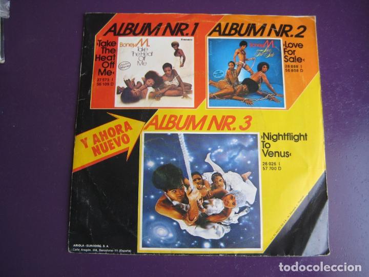 Discos de vinilo: BONEY M Sg ARIOLA 1978 rios de babilonia/ brown girl in the ring FUNK DISCO SOUL - Foto 2 - 132634618