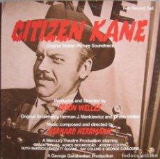 Discos de vinilo: CITIZEN KANE (CIUDADANO KANE): BANDA SONORA ORIGINAL. BERNARD HERRMANN. Lote 132641650