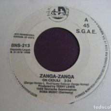 Discos de vinilo: ZANGA ZANGA SG BLANCO Y NEGRO 1988 PROMO - OH CIOLILI / OH CIOLILI (DIF VERSION) - ELECTRONICA DISCO. Lote 132642298