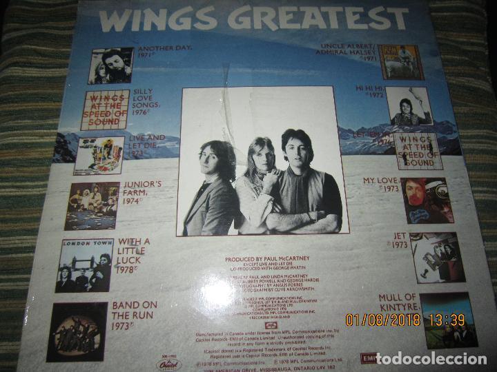 Discos de vinilo: WINGS - GREATEST LP - ORIGINAL CANADA. LP - CAPITOL 1978 CON FUNDA INTERIOR Y POSTER GIGANTE - - Foto 2 - 132667374