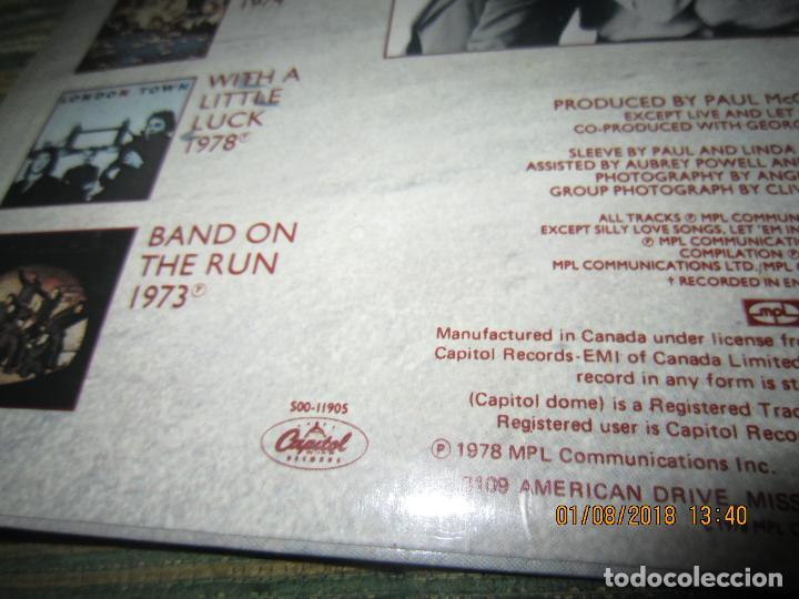 Discos de vinilo: WINGS - GREATEST LP - ORIGINAL CANADA. LP - CAPITOL 1978 CON FUNDA INTERIOR Y POSTER GIGANTE - - Foto 3 - 132667374
