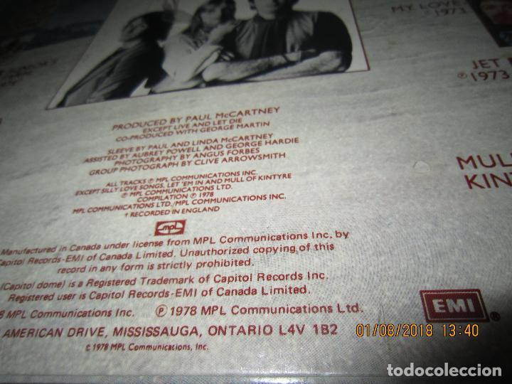 Discos de vinilo: WINGS - GREATEST LP - ORIGINAL CANADA. LP - CAPITOL 1978 CON FUNDA INTERIOR Y POSTER GIGANTE - - Foto 4 - 132667374