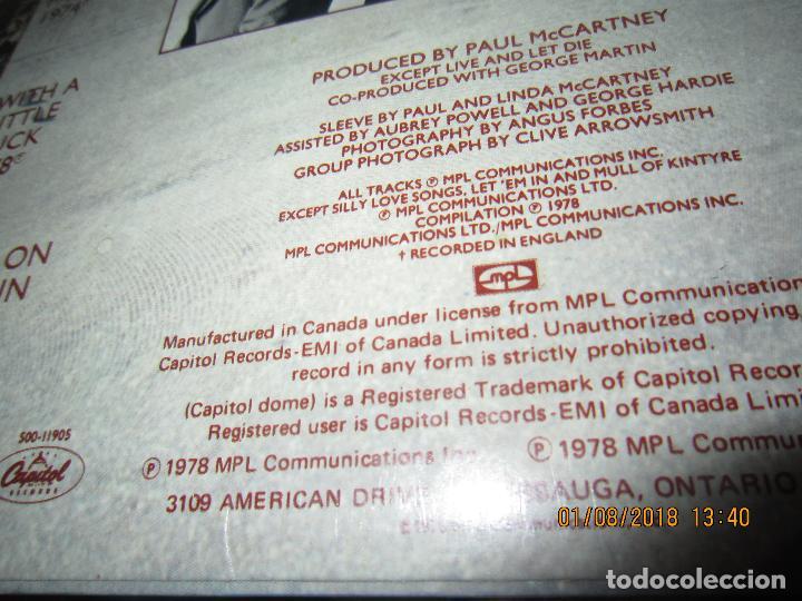Discos de vinilo: WINGS - GREATEST LP - ORIGINAL CANADA. LP - CAPITOL 1978 CON FUNDA INTERIOR Y POSTER GIGANTE - - Foto 5 - 132667374