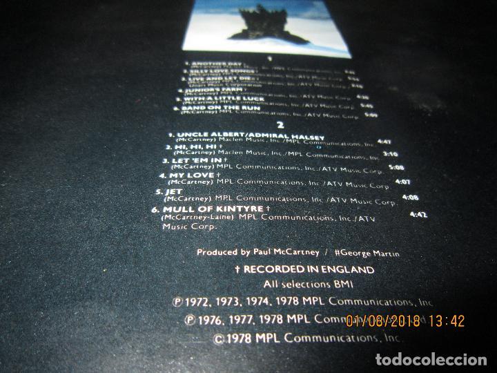 Discos de vinilo: WINGS - GREATEST LP - ORIGINAL CANADA. LP - CAPITOL 1978 CON FUNDA INTERIOR Y POSTER GIGANTE - - Foto 14 - 132667374