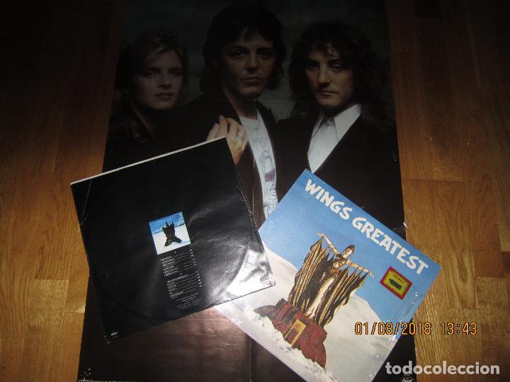 Discos de vinilo: WINGS - GREATEST LP - ORIGINAL CANADA. LP - CAPITOL 1978 CON FUNDA INTERIOR Y POSTER GIGANTE - - Foto 15 - 132667374