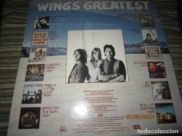 Discos de vinilo: WINGS - GREATEST LP - ORIGINAL CANADA. LP - CAPITOL 1978 CON FUNDA INTERIOR Y POSTER GIGANTE - - Foto 29 - 132667374