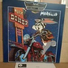 Discos de vinilo: MORCILLO LP HARLEY BOYS CON HOJA PROMOCIONAL NUEVO. Lote 132668442