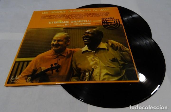 LES GRANDS CLASSIQUES DU JAZZ STEPHANE GRAPPELLI QUINTET. FEATURING BILL COLEMAN DOBLE LP 1976 (Música - Discos - LP Vinilo - Jazz, Jazz-Rock, Blues y R&B)