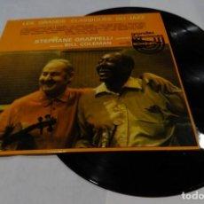 Discos de vinilo: LES GRANDS CLASSIQUES DU JAZZ STEPHANE GRAPPELLI QUINTET. FEATURING BILL COLEMAN DOBLE LP 1976. Lote 132676018