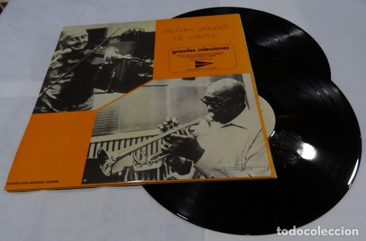 Discos de vinilo: Les grands classiques du jazz Stephane Grappelli Quintet. Featuring Bill Coleman DOBLE LP 1976 - Foto 2 - 132676018