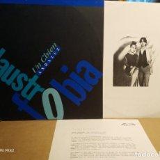 Discos de vinilo: CLAUSTROFOBIA LP UN CHIEN ANDALUZ ACOMPAÑADO DE HOJA PROMOCIONAL NUEVO A ESTRENAR. Lote 132679394