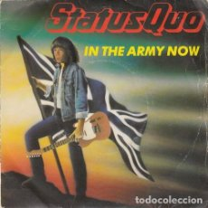 Discos de vinilo: STATUS QUO - IN THE ARMY NOW - SINGLE FRANCES DE VINILO. Lote 132683922