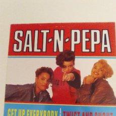 Discos de vinilo: SALT 'N' PEPA TWIST AND SHOUT / GET UP EVERYBODY ( 1988 LONDON ESPAÑA ) RAP HIP HOP . Lote 132688722